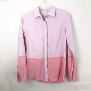 J. Crew Boy Shirt Color block Pink/Salmon Size 0